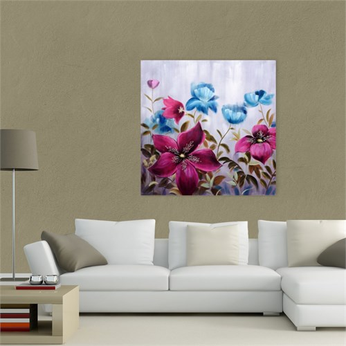 Atlantis Tablo Çiçekler 84 50X50 Cm