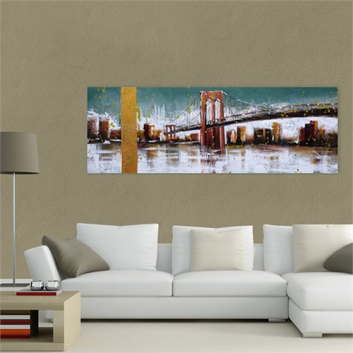Atlantis Tablo New York - Brooklyn Köprüsü 85X30 Cm