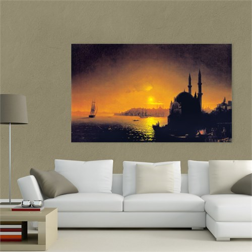 Atlantis Tablo İstanbul Ortaköy'de Gece 75X45 Cm