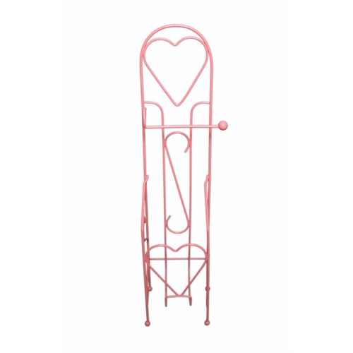 Atadan Ayaklı Kalp Wc Kağıtlık-Pembe