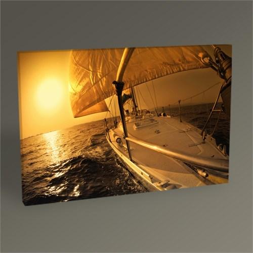 Tablo 360 Gün Batımı Ve Yelkenli Iı Tablo 105X70