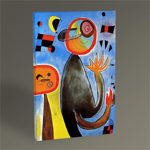 Tablo 360 Joan Miro Ladders Cross The Blue Sky İn A Whell Of Fire Tablo 45X30