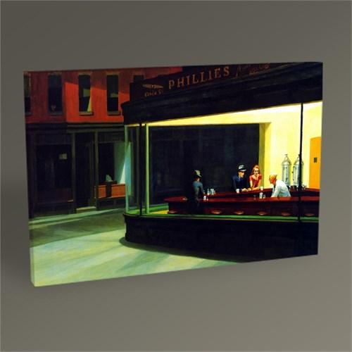 Tablo 360 Edward Hopper Gece Kuşları Tablo 45X30