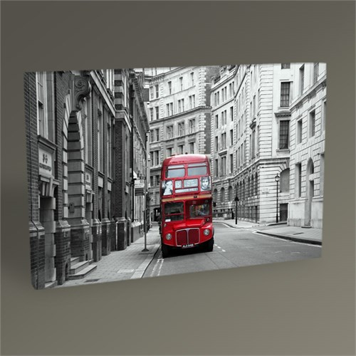 Tablo 360 London Red Bus Tablo 45X30