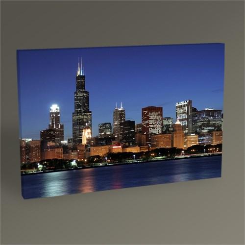 Tablo 360 Chicago Skyline At Night Tablo 45X30