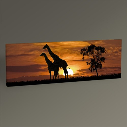 Tablo 360 Giraffes And The Sunset Tablo 120X40
