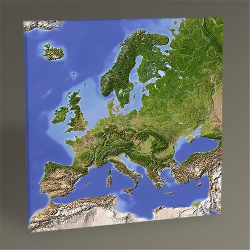 Tablo 360 Avrupa Fiziki Harita Tablo 30X30