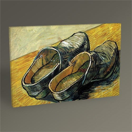 Tablo 360 Vincent Van Gogh Bir Çift Ahşap Ayakkabı Tablo 45X30
