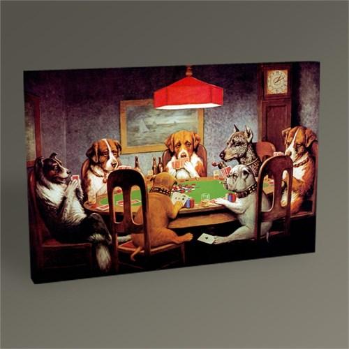 Tablo 360 Poker Oynayan Köpekler Tablo 45X30