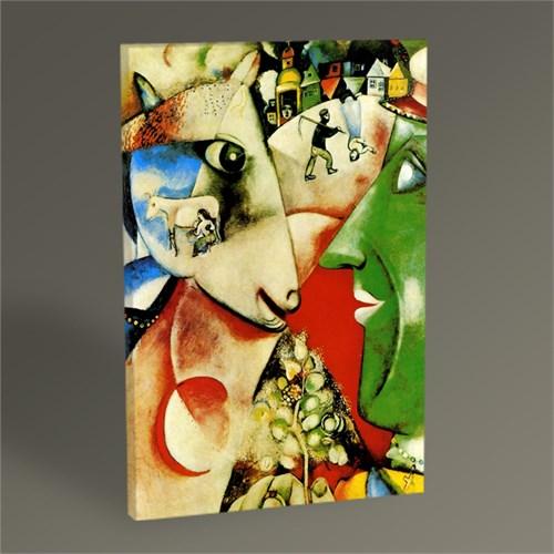 Tablo 360 Marc Chagall I And The Village Tablo 45X30