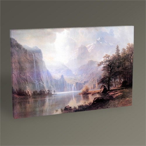 Tablo 360 Albert Bierstadt In The Mountains Tablo 45X30