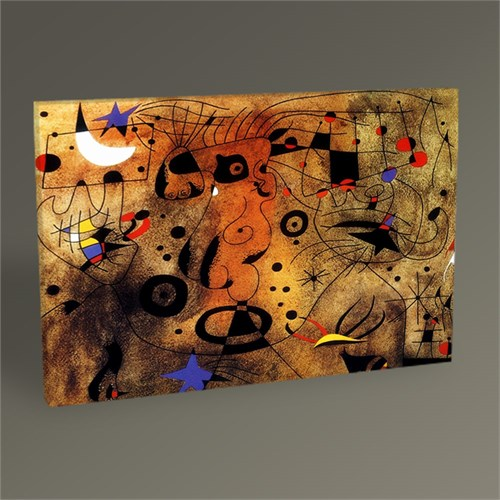 Tablo 360 Joan Miro Saçını Tarayan Kadın Tablo 45X30