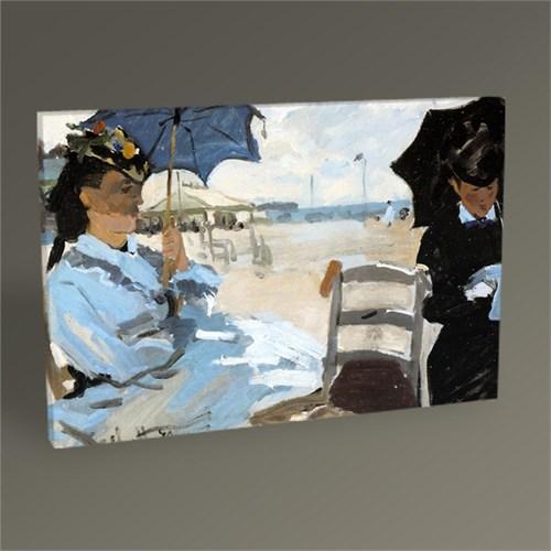 Tablo 360 Claude Monet Trouville'de Sahil Tablo 45X30