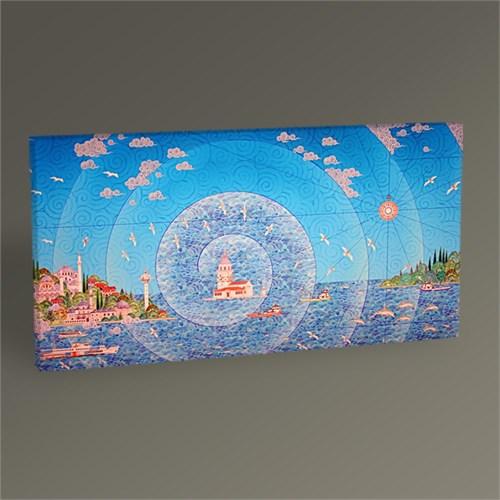 Tablo 360 İstanbul Kız Kulesi Minyatür Tablo 60X30