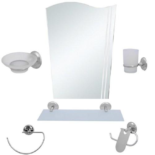 Alper 6 Parça Ayna Seti Bayrak Ayna