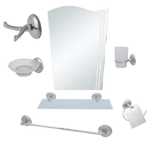 Alper 7 Parça Ayna Seti Bayrak Ayna Uzun Havluluk