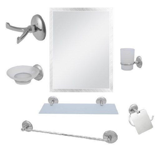 Alper 7 Parça Ayna Seti Kare Ayna Uzun Havluluk
