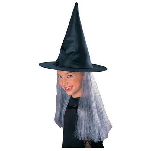Rubies Cadı Şapkası Ve Beyaz Saçı
