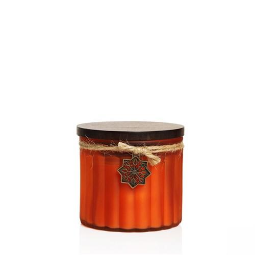 Venge Kapaklı Dekoratif Kokulu Mum (Parafinsiz) Portakal
