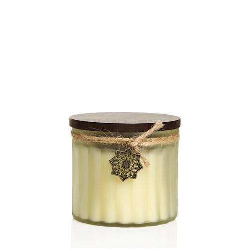 Venge Kapaklı Dekoratif Kokulu Mum (Parafinsiz) Vanilya