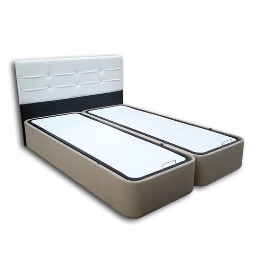Derman Yatak Çift Kişilik Kumaş Baza + Başlık 150X200