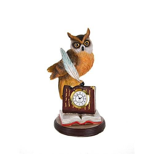Lucky Art Baykuşlu Masa Saati 20 Cm