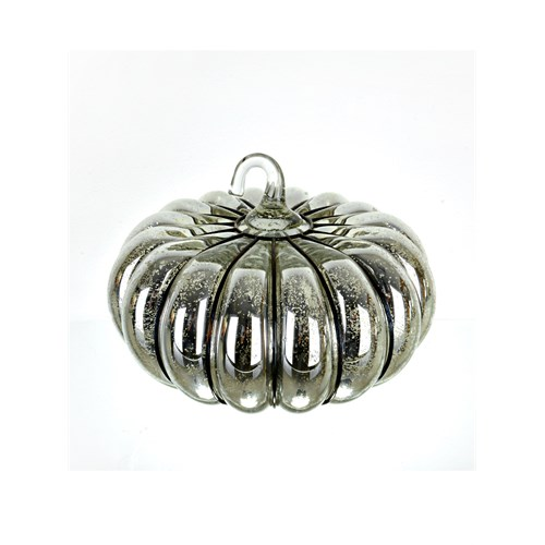 Lucky Art Gümüş Cam By Kabak Dekor 21 Cm