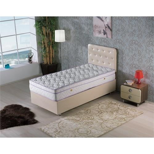 Nav Decoration Solit White Tek Kişilik Baza + Başlık + Yatak