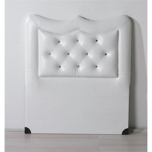 Nav Decoration Platin Tek Kişilik Baza Başlığı - Beyaz - 90X190 Cm