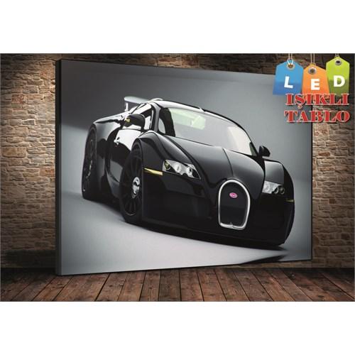 Tablo İstanbul Bugatti Veyron Led Işıklı Kanvas Tablo 45*65 Cm