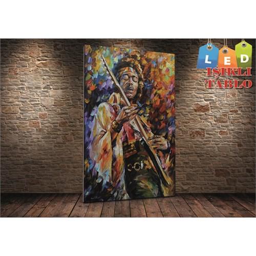 Tablo İstanbul Jimi Hendrix Leonid Afremov Led Işıklı Canvas Tablo