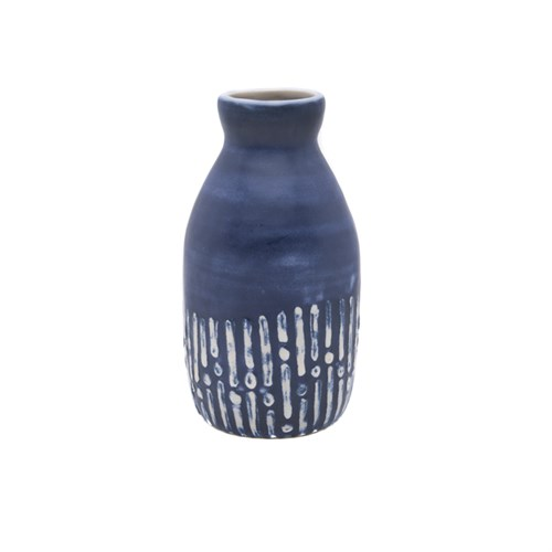 Yargıcı El Yapımı Seramik Vazo ( 8 X 8 X 14 Cm )