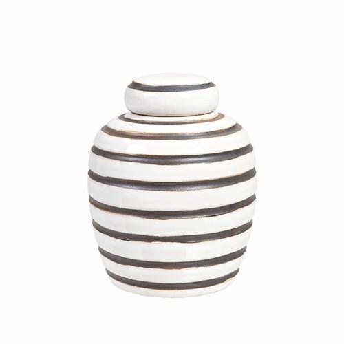 Yargıcı El İşlemeli Seramik Pot ( 17 X 20 Cm)