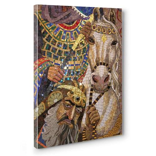 Artred Gallery 75X50 Atlı Mozaik Kanvas Tablo