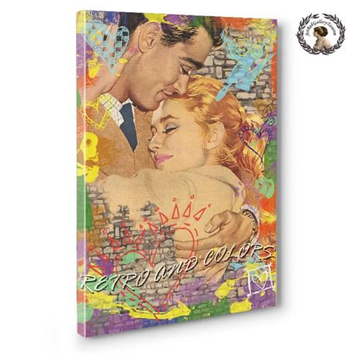 Artred Gallery 75X50 Retro And Love Kanvas Tablo