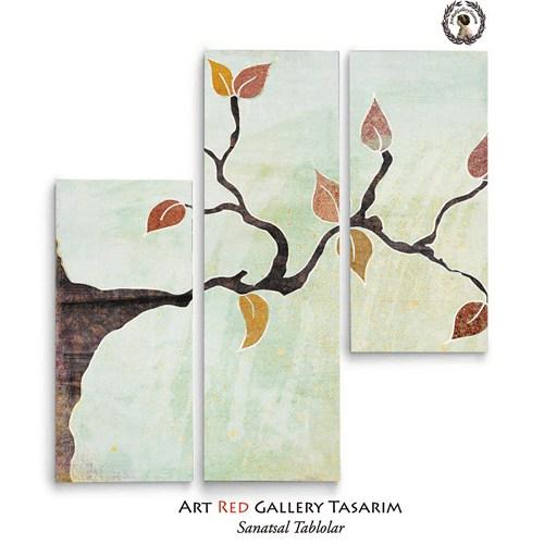 Artred Gallery 3 Parça Sulu Boya Kanvas 110X95 Tablo