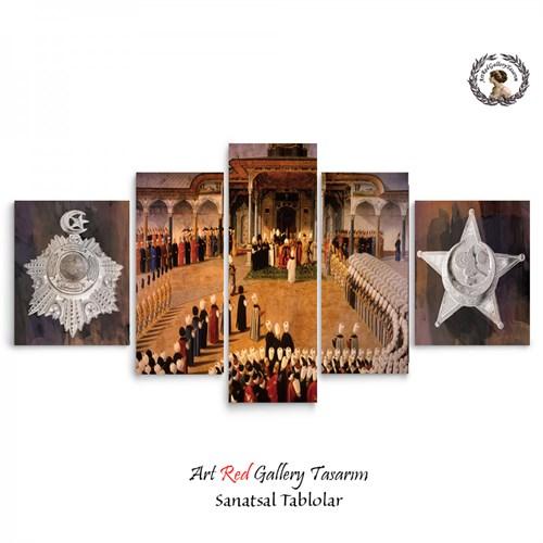 Artred Gallery 5 Parçalı Osmanlı Sarayı-2 Kanvas Tablo125X56