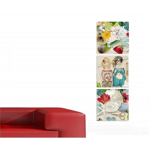 Artred Gallery Kağıt Kızlar-2 Kanvas 50X155 Tablo