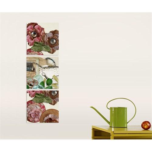 Artred Gallery Üç Parça Daldaki Kuş Kanvas 50X155 Tablo