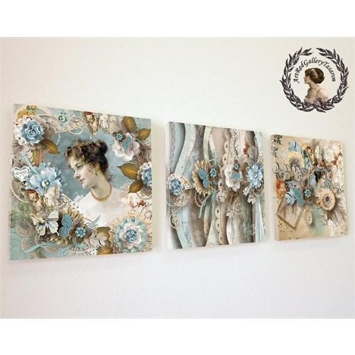 Artred Gallery Valentina Serisi Kanvas 50X155 Tablo-19