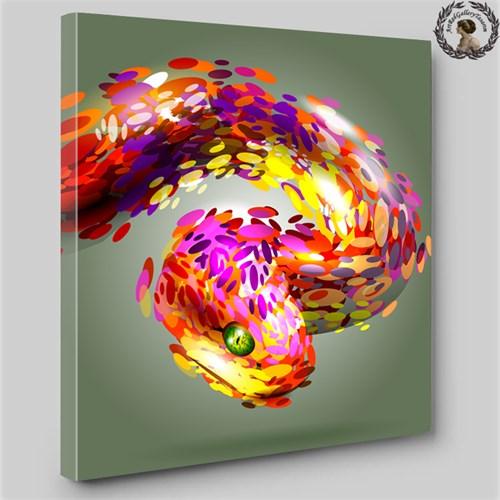 Artred Gallery 60X60 İllustrasyon Yılan Işıklı Tablo