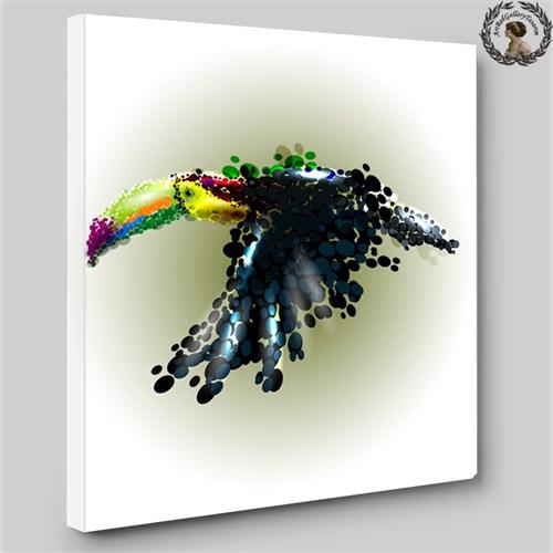Artred Gallery 60X60 İllutrasyon Kuş Işıklı Tablo