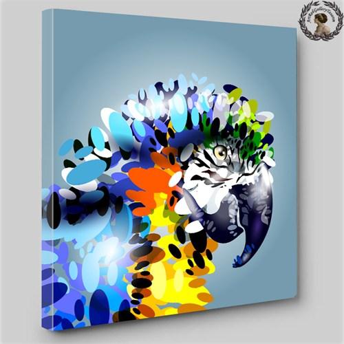 Artred Gallery 60X60 İllutrasyon Papağan Işıklı Tablo