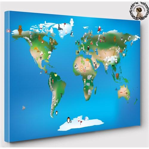Artred Gallery 50X70 Çocuk Dünya Haritası Tablo
