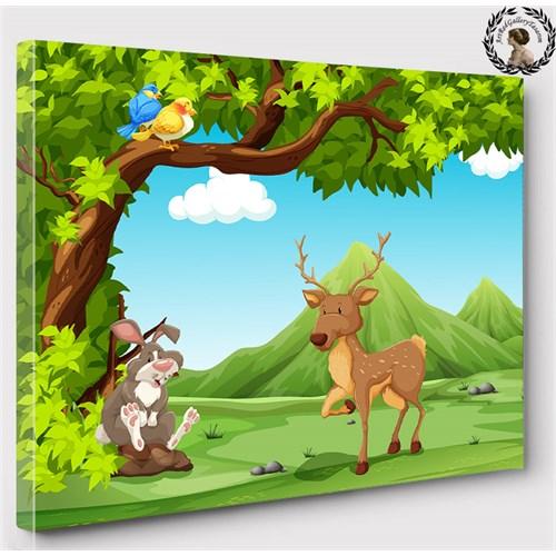 Artred Gallery 50X70 Orman Ve Sevimli Hayvanlar Tablo
