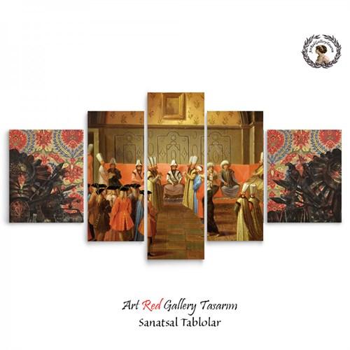 Artred Gallery 5 Parçalı Osmanlı Sarayı Tablo125X56
