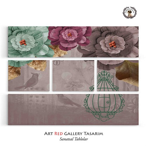Artred Gallery Beş Parça Kafes Tablo 126X95