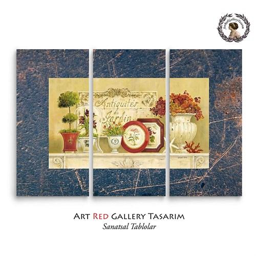 Artred Gallery Dekubaj Çiçekler Üç Parça 75X115 Tablo-2