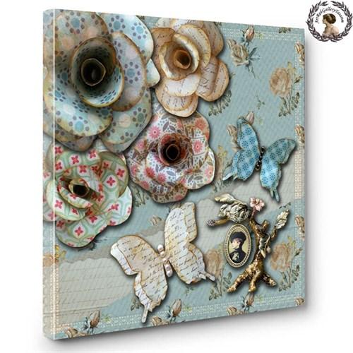 Artred Gallery Kağıt Çiçekler Serisi Canvas 1. Tablo 60X60