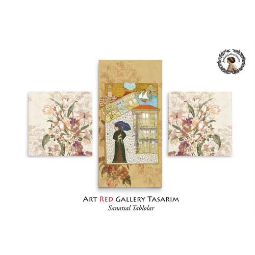Artred Gallery Minyatür Üç Parça 80X50 Tablo